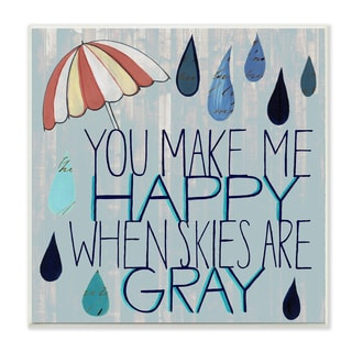 Stupell 'You Make Me Happy' Wall Plaque Art