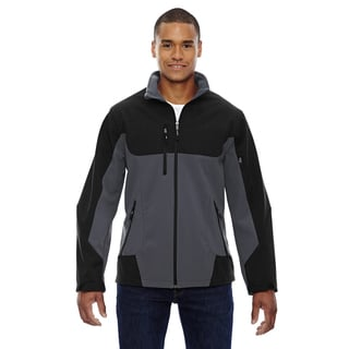 Compass Colorblock Three-Layer Fleece Bonded Soft Shell Men's Big and Tall Fossil Grey 887 Jacket