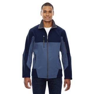 Compass Colorblock Three-Layer Fleece Bonded Soft Shell Men's Blue Ridge 411 Jacket