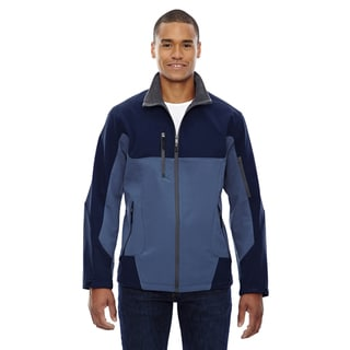Compass Colorblock Three-Layer Fleece Bonded Soft Shell Men's Big and Tall Blue Ridge 411 Jacket