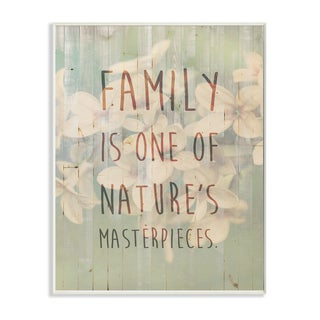 Family Natures Masterpieces Plaque Wall Art
