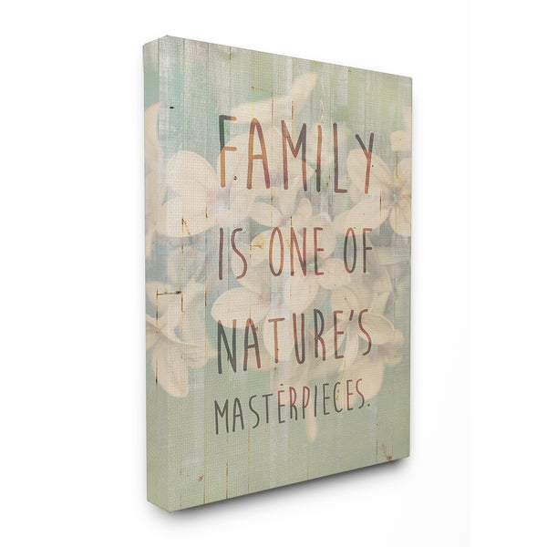 Family Natures Masterpieces Stretched Canvas Wall Art - 16 x 20