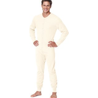 X-Temp Men's Natural Thermal Union Suit