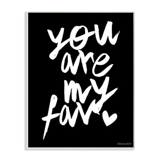 lulusimonSTUDIO 'You Are My Fav' B&W Wall Plaque Art