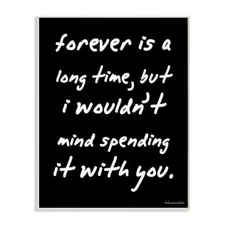 lulusimonSTUDIO 'Forever Is a Long Time' Wall Plaque Art
