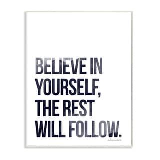 lulusimonSTUDIO 'Believe in Yourself' Glam Wall Plaque Art