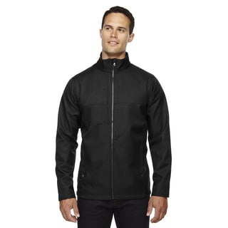 City Textured Three-Layer Fleece Bonded Soft Shell Men's Big and Tall Black 703 Jacket
