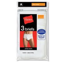 Men's White White Briefs (Pack of 3)