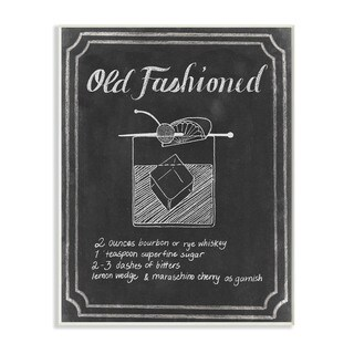 Stupell 'Old Fashioned Cocktail Chalkboard Recipe' Wall Plaque Art on Wood