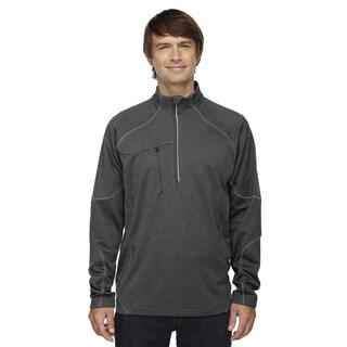 Catalyst Men's Big and Tall Performance Fleece Carbon Heath 452 Half-Zip