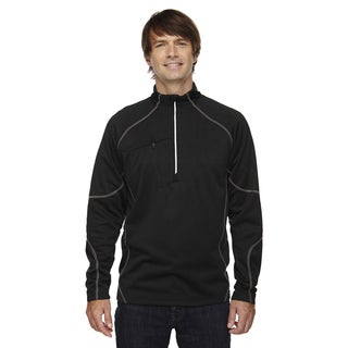 Catalyst Men's Big and Tall Performance Fleece Black 703 Half-Zip