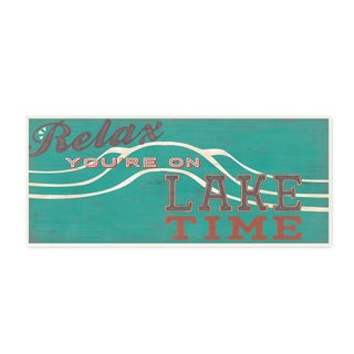 'Relax You're on Lake Time' Wall Plaque Art