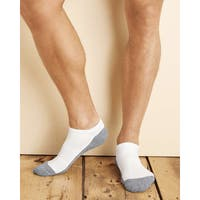 Gildan Men's Platinum White One-size-fits-most No-show Socks