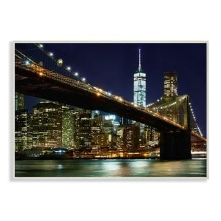 Stupell 'New York at Night' Wall Art Plaque