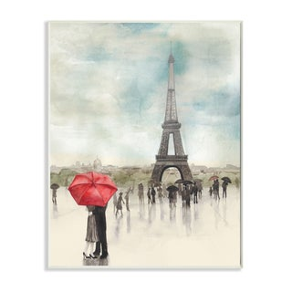 Stupell 'Rainy Day Lovers in Paris' Wall Plaque Art