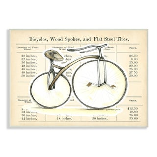 'Let's Go for a Spin' Bike with Typography Wall Plaque Art