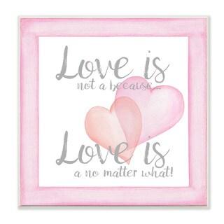 'Love No Matter What' Pink Hearts Wall Plaque Art