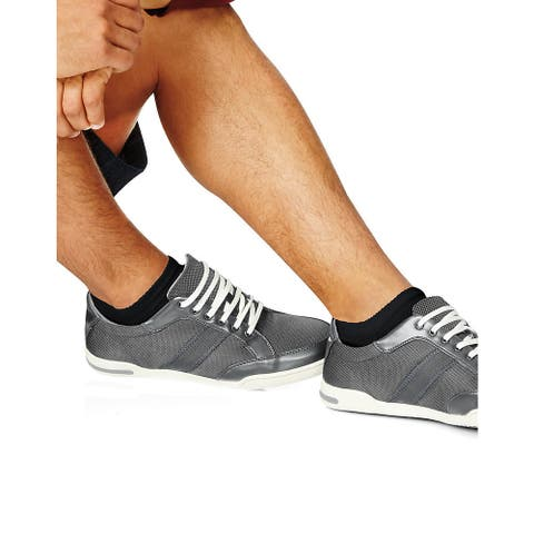 Cushion Black Size 10-13 No-Show Men's Socks (Pack of 6)