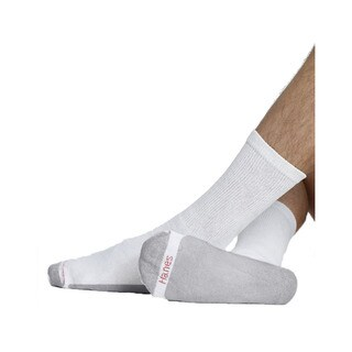 Men's White Size 10 to 13 Cushion Crew Socks
