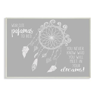 Wear Cute Pajamas...In Your Dreams' Grey Lithographic Wall Plaque Art