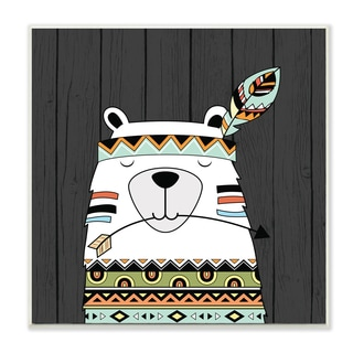 Stupell Boho Bear Wall Plaque Art