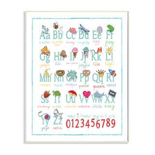 Stupell 'ABCs 123s' Wall Plaque Art