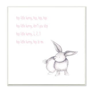 'Hop Little Bunny Rhyme Rabbit' Wall Plaque Art