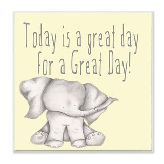 'Today Is a Great Day' Elephant Wall Plaque Art