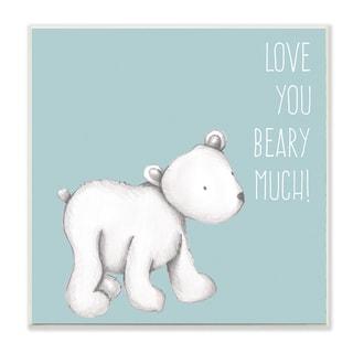 'Love You Beary Much! Polar Bear' Wall Plaque Art