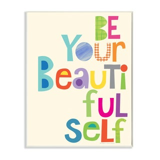Stupell 'Be Your Beautiful Self' Patchwork Wall Plaque Art