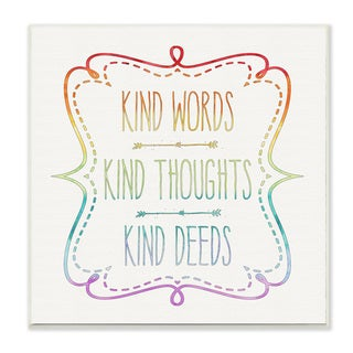 Stupell 'Kind Words Thoughts and Deeds' Wall Plaque Art