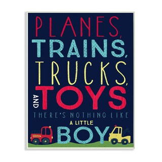 Stupell 'Planes, Trains, Trucks and Toys' Wall Plaque Art