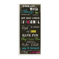 Stupell 'Dream Big' Multicolor Typography Wall Plaque Art on Wood
