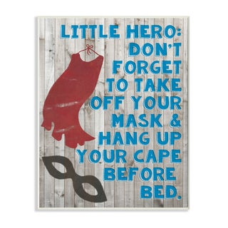 Stupell Little Hero Before Bed Wall Plaque Art