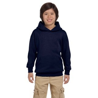 Hanes Youth Comfortblend Ecosmart Navy Polyester Pullover Hoodie
