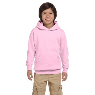 Hanes Youth Comfortblend Ecosmart Pale Pink Polyester Pullover Hoodie (5 options available)