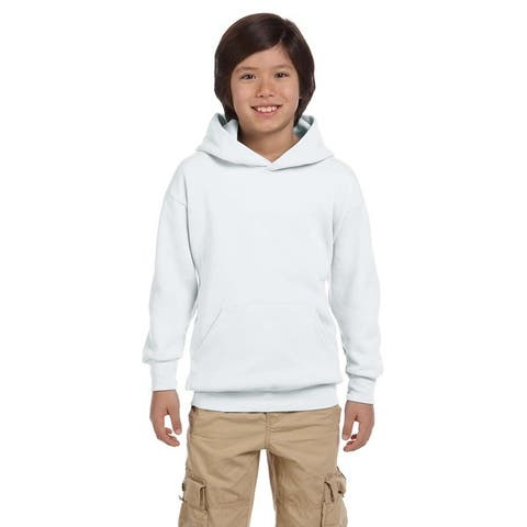 Youth Comfortblend Ecosmart White Pullover Hoodie