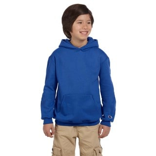 Royal Blue Double Dry Action Fleece Youth Pullover Hoodie