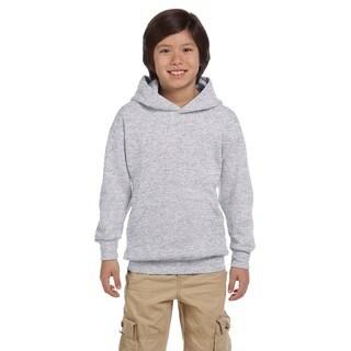 Hanes Boys' Ash Grey Comfortblend Polyester Ecosmart Pullover Hoodie