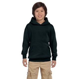 Hanes Youth Comfortblend Ecosmart Black Pullover Hoodie