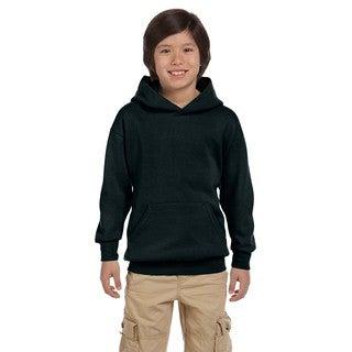 Hanes Youth Comfortblend Ecosmart Black Pullover Hoodie