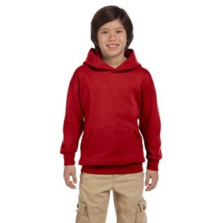 Hanes Youth's Comfortblend Ecosmart Deep Red Polyester Pullover Hoodie