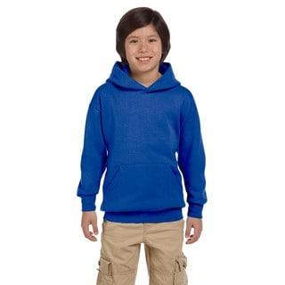 Hanes Youth Comfortblend Ecosmart Deep Royal Polyester Pullover Hoodie