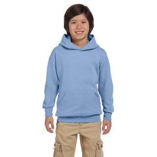 Youth Light Blue Polyester Comfortblend Ecosmart Pullover Hoodie