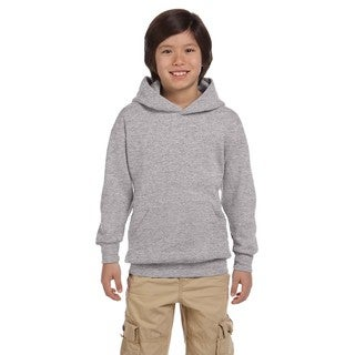 Youth Comfortblend Ecosmart Light Steel Polyester Pullover Hoodie