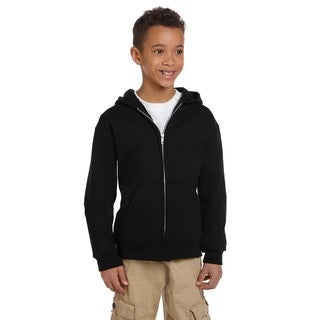 Champion Youth Black Fleece Full-zip Hoodie
