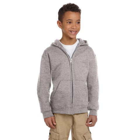 Champion Boy's Grey Fleece Full Zip Hoodie