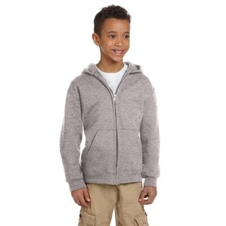 Champion Boy's Grey Fleece Full Zip Hoodie