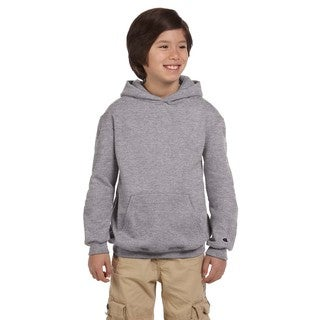 Youth Double Dry Action Light Steel Cotton Fleece Pullover Hoodie