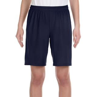 For Team 365 Boys' Dark Navy Blue Polyester Mesh 9-inch Shorts